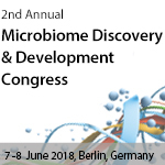 2nd Annual Microbiome Discovery and Development Congress, 7-8 June 2018, Berlin, Germany